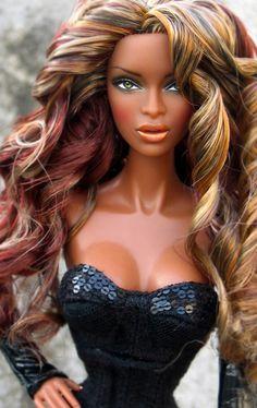 Janell by Peewee Parker Beautiful Barbie Dolls, Pretty Dolls, Cute Dolls, Afro, Fashion Royalty Dolls, Fashion Dolls, Diva Dolls, African American Dolls, Poppy Parker
