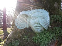 The beautiful Hypnia a ceramic by the very talented Ama Menec in early evening sunlight.  One of the exhibits here in our sculpture gardens.  Taken by www.westdownhouse.co.uk