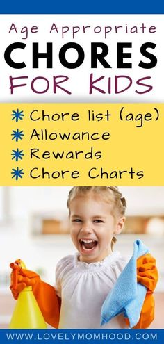 Chores for Kids by Ages (Age-Appropriate Kids Chores & Allowance List) - Looking for the best age appropriate chores for kids? Here is the full list of Chores for Kids List - Chores For Kids By Age, Chore List For Kids, Age Appropriate Chores For Kids, Toddler Chores, Chore Chart Kids, Children Chores, Chore Charts, Toddler Boys, Goal Charts