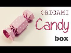 Origami Candy Gift Box Tutorial - YouTube - this is a two piece box - the boxes slide into each other