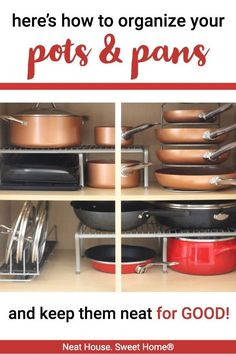 Room Decor For Teens These three additions to your kitchen cabinets will help you organize your pots and pans for good! Decor For Teens These three additions to your kitchen cabinets will help you organize your pots and pans for good! Pan Organization, Organizing Hacks, Kitchen Cabinet Organization, Tupperware Organizing, Kitchen Organizers, Diy Kitchen Storage, Diy Kitchen Cabinets, Kitchen Decor, Kitchen Ideas