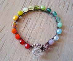 Colorful crochet bracelet slashKnots Stackers by slashKnots
