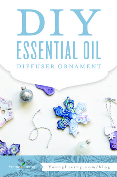 Perfect for little hands to make, these DIY ornament diffusers are lovely aromatherapy gifts for loved ones!