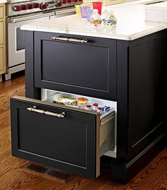 Love the look of these refrigerator drawers.