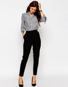 49 Cute Work Outfits Ideas For Womens casual interview outfit - Casual Outfit Classy Work Outfits, Fall Outfits For Work, Work Casual, Casual Outfits, Sweater Outfits, Summer Outfits, Casual Office, Casual Wear, Black Outfits