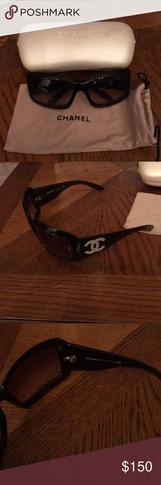Chanel Sunglasses Authentic Chanel sunglasses with case and cloth bag included. Tortoise color. CHANEL Accessories Sunglasses