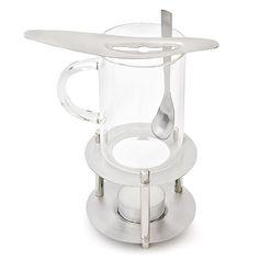 Teeglas Feuerzangenbowle Set Glas + Gestell + Zuckerablage + Löffel + Teelicht | eBay