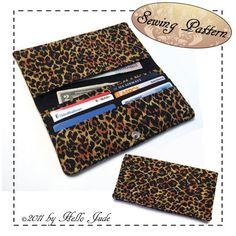 Long Bi Fold Wallet PDF Sewing Pattern by HelloJude on Etsy, $5.00
