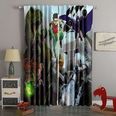 3D Printed Teen Titans Style Custom Living Room Curtains – Westbedding