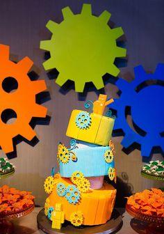 aniversário de criança com tema robôs