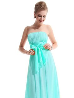 Ever Pretty Empire Waist Bowtie Strapless Evening Dress | StyleSuicide