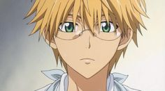 Usui with glasses