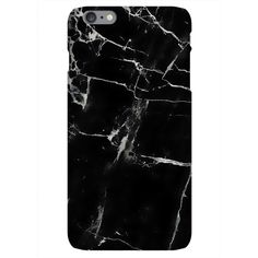 Harper & Blake Black Marble Print Phone Case ($26) ❤ liked on Polyvore featuring accessories, tech accessories and black