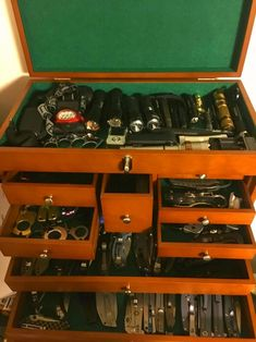 Weapon Storage, Knife Storage, Tactical Knives, Tactical Gear, Bachelor Room, Wooden Tool Boxes, Tool Room, Bushcraft Gear, Wood Shop Projects