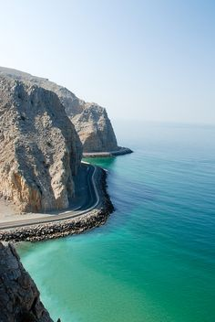The road to Khasab, Oman by abalonia