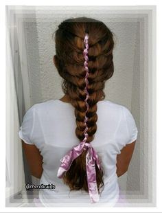 French 5strand braid with ribbon
