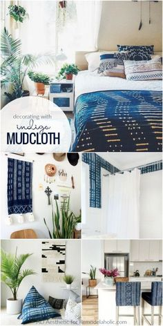 Incorporating Indigo Mudcloth In Living Room Decor Remodelaholic Livingroomdecor Livingroomideas