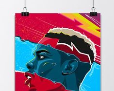 Pogba & Lingard Dab Celebration Manchester United Poster | Etsy Manchester United Poster, Jesse Lingard, Green Backgrounds, Celebration, Two By Two, The Unit, Stars, Illustration, Prints