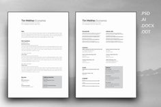 Resume and Cover Letter Template   @creativework247