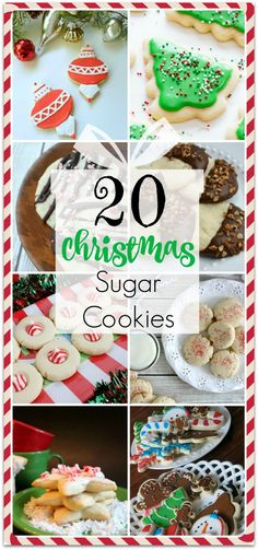 20 Amazing Christmas Sugar Cookies - Food Fun & Faraway Places- Looking for Christmas sugar cookies? I've put together a roundup of the best 20 Christmas sugar cookie recipes! Christmas Sugar Cookie Recipe, Holiday Cookie Recipes, Holiday Cookies, Holiday Treats, Christmas Recipes, Fancy Cookies, Christmas Foods, Holiday Foods, Thanksgiving Recipes