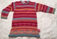 Baby Girl 18 Month Sweater Dress CLAYEUX Pink Metallic Winter Knit Sweater 81cm  | eBay