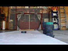 EZGoal Net and Homemade Shooting Pad Hockey Shot, Hockey Goal, Youth Hockey, Hockey Baby, Hockey Puck, Ice Hockey, Shooting Board, Shooting Practice