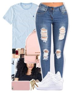 """Untitled #99"" by xxsaraxtaraxx ❤ liked on Polyvore featuring Ralph Lauren, MICHAEL Michael Kors and NIKE"