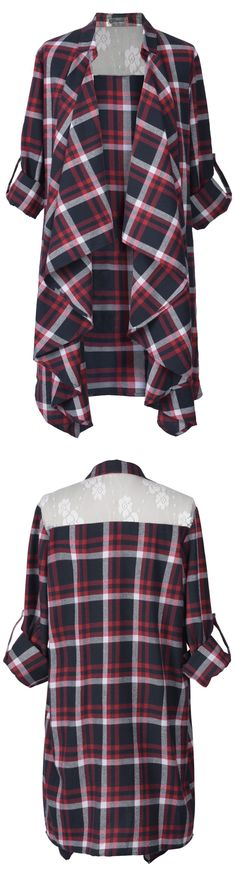 Don't you love how casual this plaid cardigan is! And yet, it's still perfectly trendy! Cool Outfits, Fashion Outfits, Modest Fashion, Fashion Tips, Luanna, Front Design, Long Cardigan, Get Dressed, Plaid