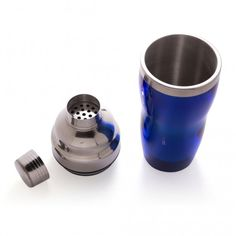 3 Piece Cocktail Shaker - Stainless Steel with Blue Acrylic Coating - 16 oz Bar Tools, Cocktail Shaker, Nespresso, 3 Piece, Coffee Maker, Cocktails, Stainless Steel, Tableware, Blue
