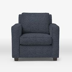Strong, clean lines and comfy cushions make our Henry® Armchair a popular choice. Each chair is crafted with hand-built frames and hand-finished upholstery. Tub Chair, Solid Wood, Love Seat, Armchair, Cushions, Comfy, West Elm, Upholstery Foam, Velvet