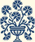 Vase aux œillets - 67 x 79 points