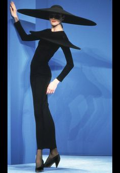 80's model sensation, and Adel Rootstein mannequin, Jan Strimple. 1991 Pierre Cardin show.