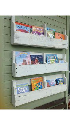 Repurposing pallets, bookshelf, kids room ideas, read to your child more, creative ideas, rustic decor