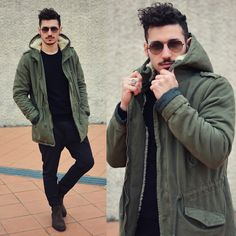 Xcape Parka, Marco Ferretti Shoes, Ray Ban Sunnies #fashion #mensfashion #menswear #mensstyle #streetstyle #style #outfit #ootd