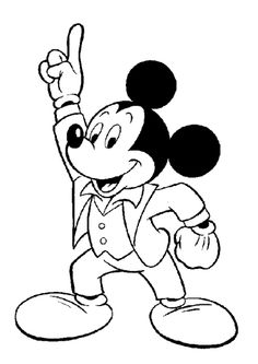 Mickey Mouse Coloring Pages To