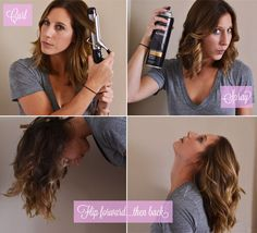 how to avoid ringlets and create loose waves with a curling iron