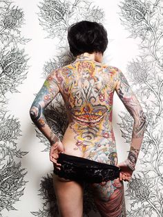 Tattooed ladies ~ 'Into the night' by Julie Becker