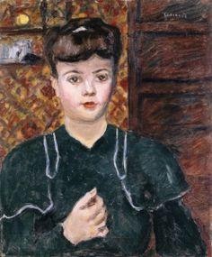 Young Woman, Blue-Green Dress - Pierre Bonnard - The Athenaeum