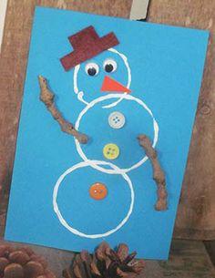dessin bonhomme de neige avec les enfants