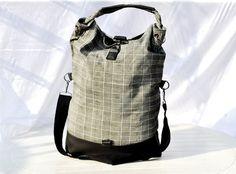 Plaids Messenger Bag Flannel Shoulder Big by andwhatelseisthere, $53.00
