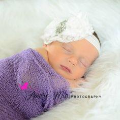 Vintage Flare Large Rhinestone & Lace baby Headband*Color Options    Price: $11.99