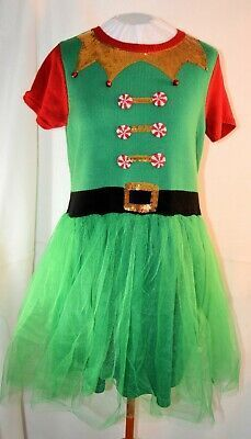 Fun Christmas sweater that's also a dress! Green elf like pullover has sequins and bells at the neckline, red 'candy' buttons, designed in belt and an attached green skirt with green netting over the top of the skirt. Ugly Sweater, Ugly Christmas Sweater, Red Candy, Gender Reveal, Sexy Dresses, Tutu, Shoulder Dress, Sequins, Ebay
