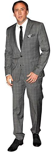 Nicolas Cage Cardboard Cutout life size and mini size Standee Stand Up Life Size Cutouts, Life Size Cardboard Cutouts, Nicolas Cage, Practical Jokes, Famous Celebrities, Stand Up, Movie Stars, Suit Jacket, Suits