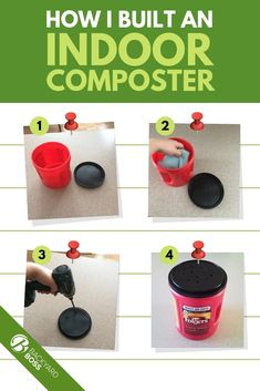 DIY Indoor Compost Bin - How To Build Your Own In 4 Easy Steps - natural plant fertilizer -