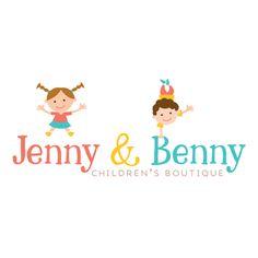 Premade Logo - Happy Kids Premade Logo Design - Customized with Your Business Name! Creative Logo, Logo Infantil, Boutique Logo, Clothing Logo, Business Names, Happy Kids, Baby Shop, Box Design, Logo Inspiration