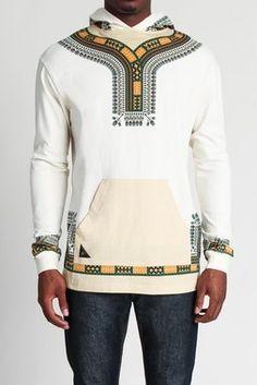 Dashiki Jersey Hoody a Cross-Cultural Fashion African Inspired Fashion, African Print Fashion, Africa Fashion, Fashion Prints, African Attire For Men, African Wear, African Dress, Afro Men, African Shirts