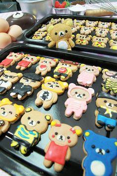Cute Rilakkuma cookie