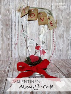 Valentine Mason Jar Craft from @Bonnie S. S. & Trish { Uncommon Designs }! Love it!