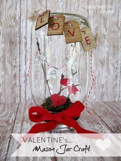 Valentine Mason Jar Craft from @Bonnie S. S. & Trish { Uncommon Designs }! Love it!