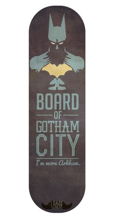 Batman Skateboard Design - Katy Thorn ©